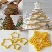 Комплект от 6 формички за бисквити - звезда